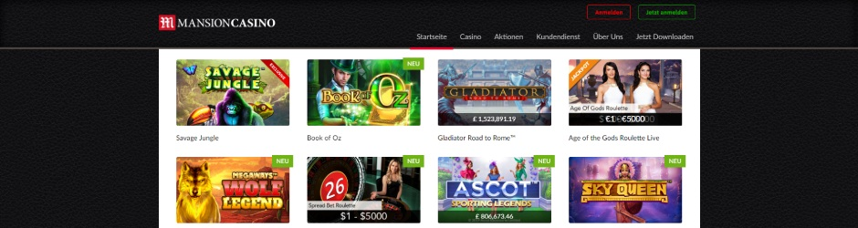 MansionCasino.com Software