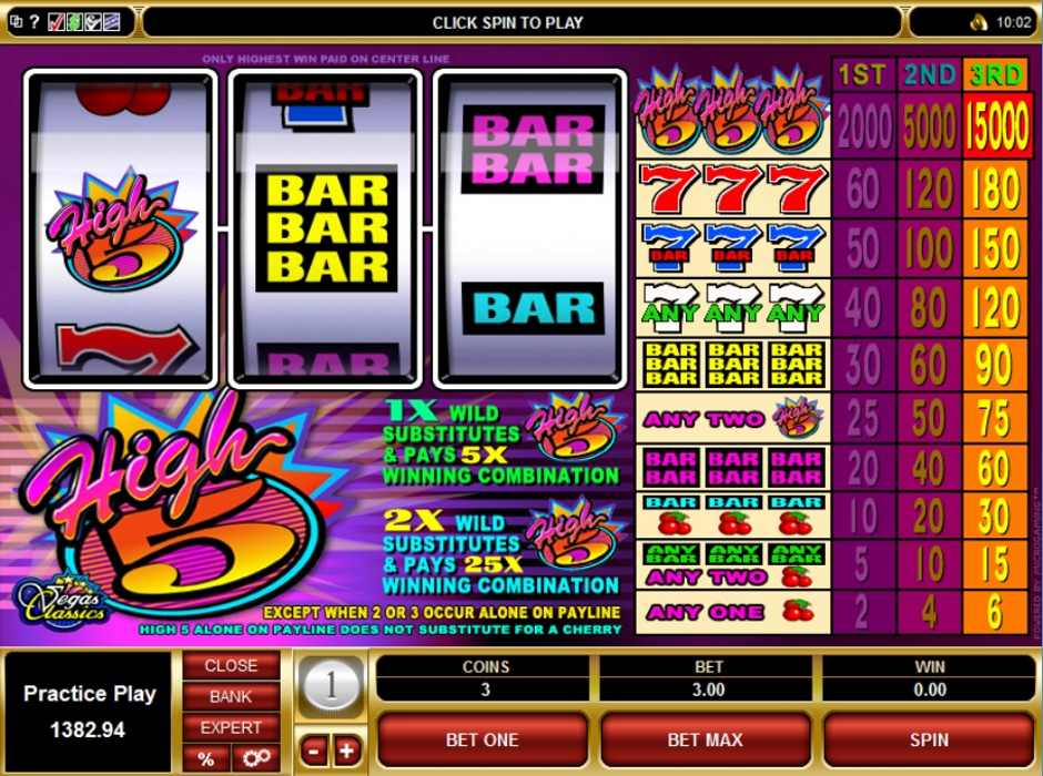 High 5 Slot Microgaming