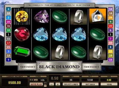 black diamond slot screen
