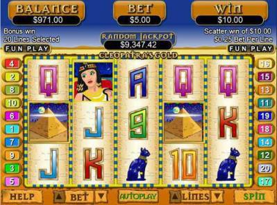 real time gaming cleopatra gold slot