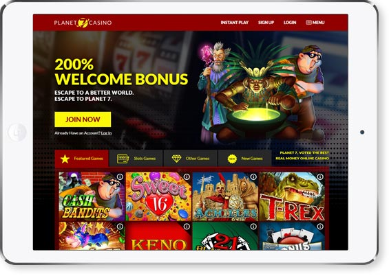 review page image Planet7 Casino
